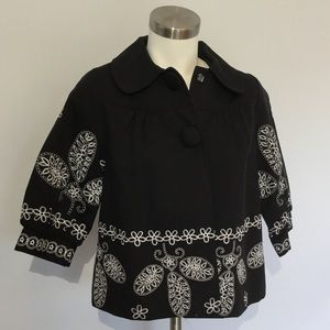 Anthropologie Luii Brand Jacket NWT Embroidered S